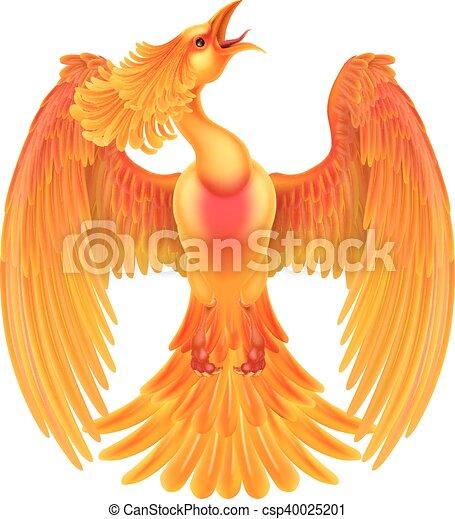 Phoenix Fire Bird - csp40025201