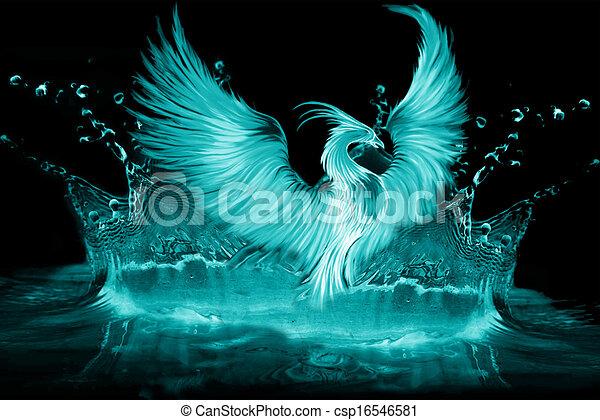 Phoenix Stock Illustration Csp on Phoenix Bird Drawings
