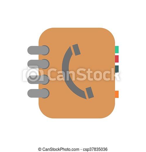 Phone book illustration - csp37835036
