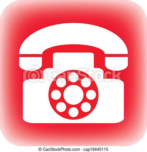Phone button - csp19445115
