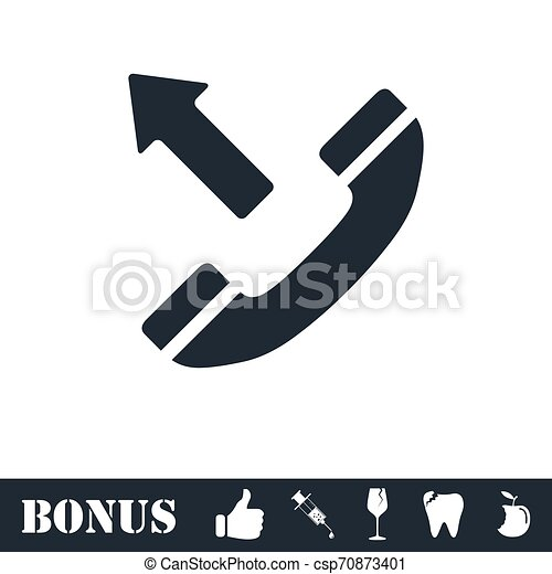 Phone call outgoing icon flat - csp70873401