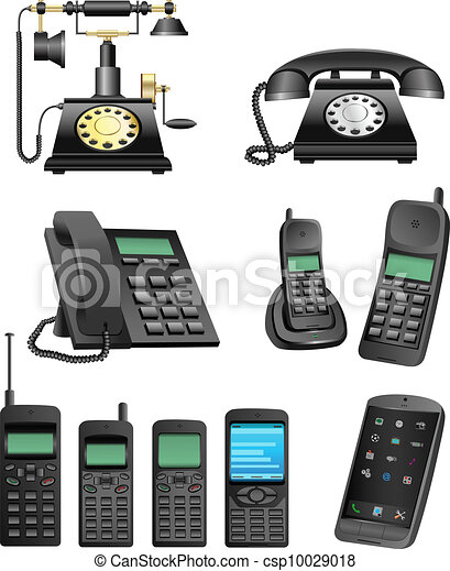 phone evolution - csp10029018