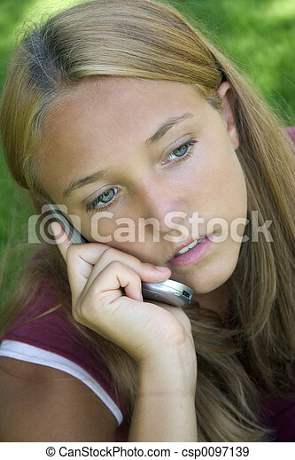 Phone Girl - csp0097139
