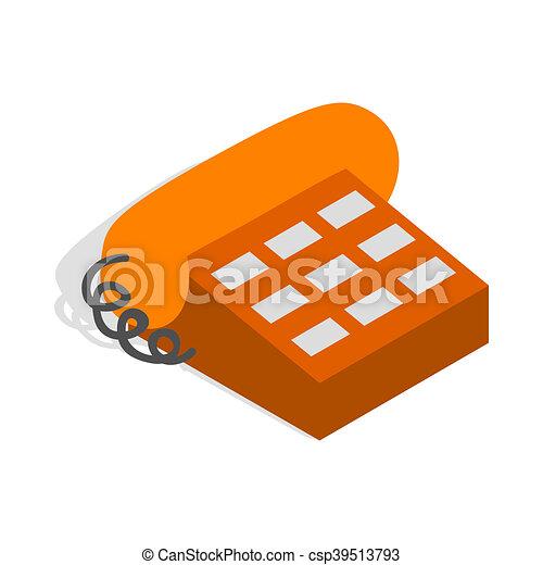 Phone handset icon, isometric 3d style - csp39513793