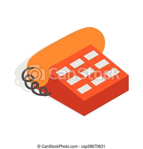 Phone handset icon, isometric 3d style - csp38670631