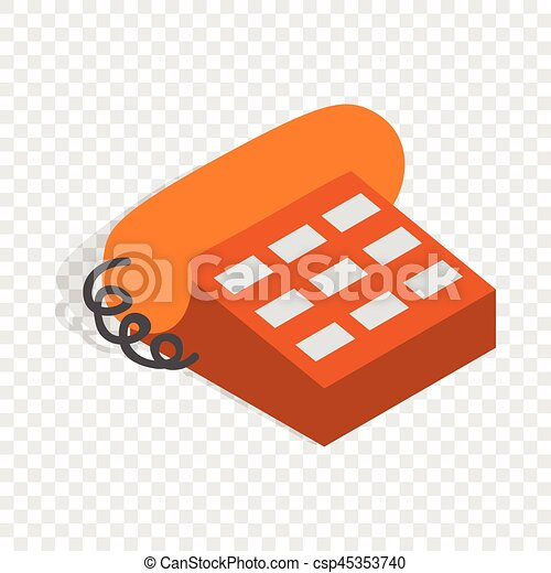 Phone handset isometric icon - csp45353740