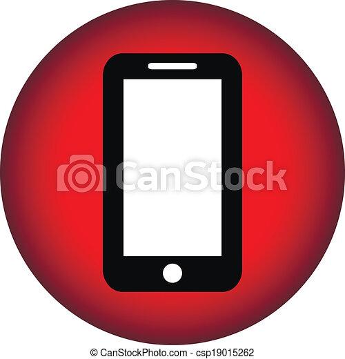 Phone icon button - csp19015262