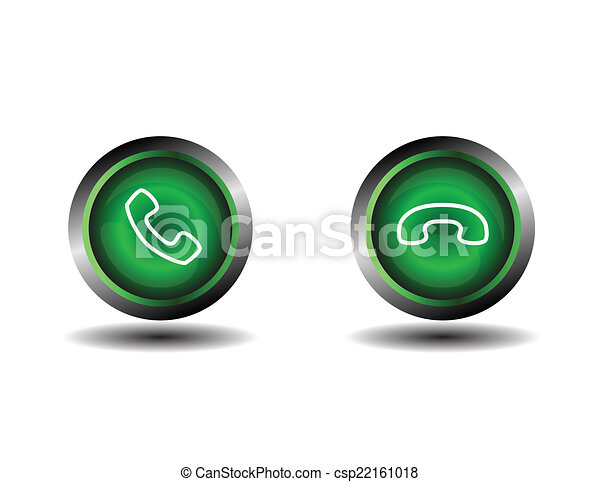 Phone icon contact button - csp22161018