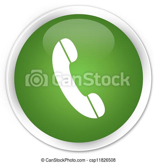 Phone icon green button - csp11826508