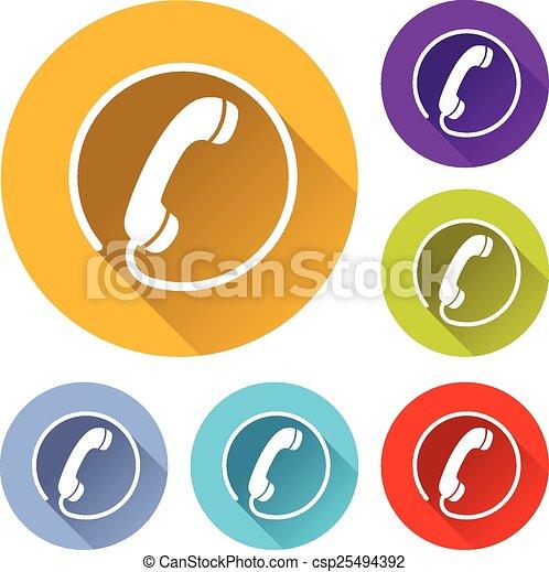 phone icons - csp25494392