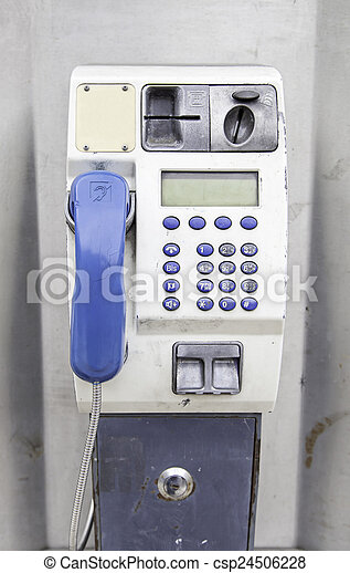 Phone in the city - csp24506228