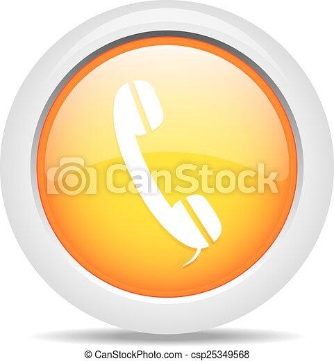phone isolated on white background - csp25349568