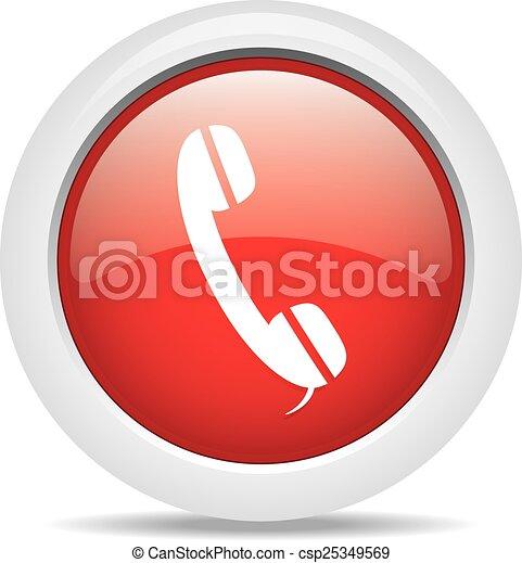 phone isolated on white background - csp25349569