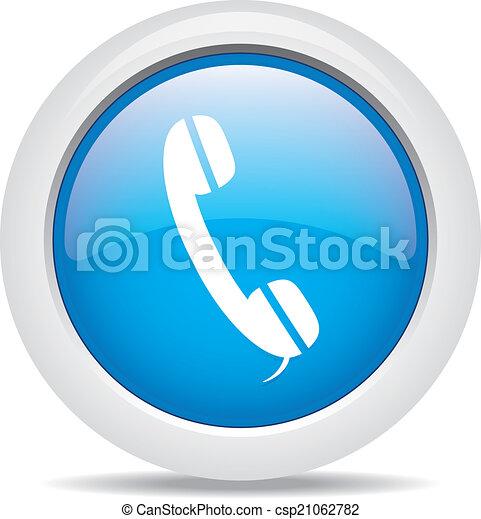 phone isolated on white background - csp21062782