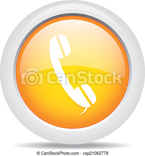 phone isolated on white background - csp21062778
