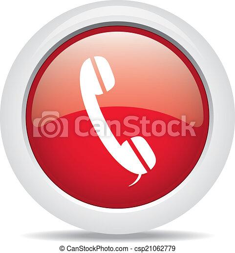 phone isolated on white background - csp21062779