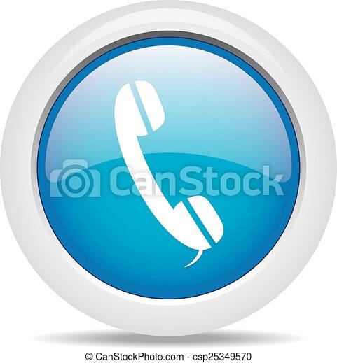 phone isolated on white background - csp25349570