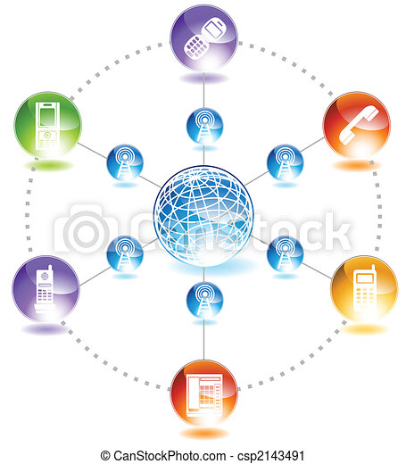 Phone network phone network diagram in a shiny glossy web button style phone network csp2143491 ccuart Image collections