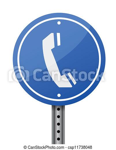 phone sign - csp11738048