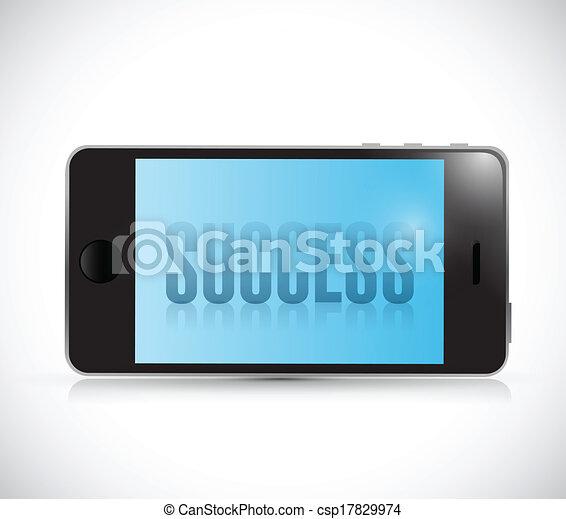 phone success illustration design - csp17829974