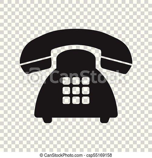Phone Vector Icon Old Vintage Telephone Symbol Illustration