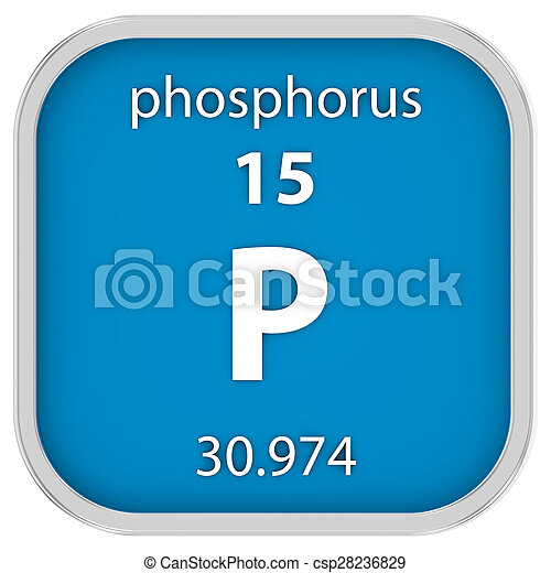 Phosphorus Material Sign Phosphorus Material On The Periodic Table