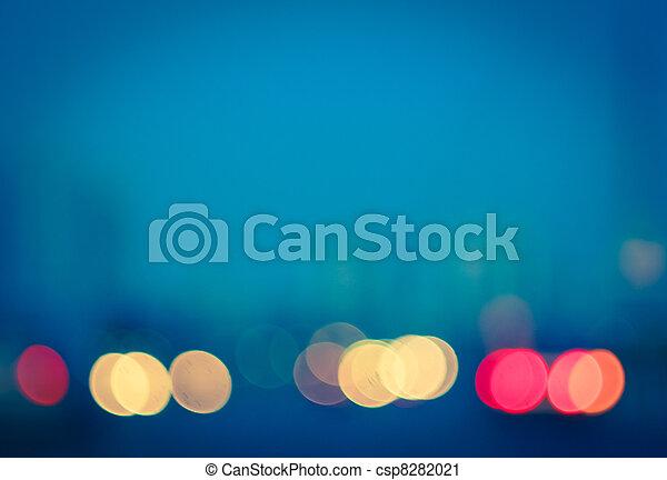 photo, bokeh, lumières - csp8282021