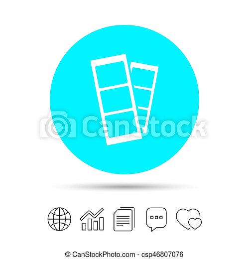 Photo booth strips sign icon. photo frame template symbol. copy ...