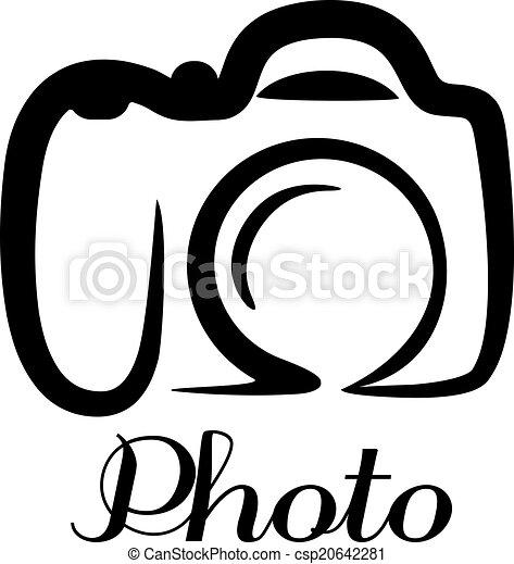Photo camera emblem - csp20642281