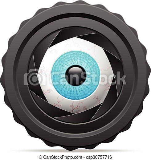 photo camera eye - csp30757716