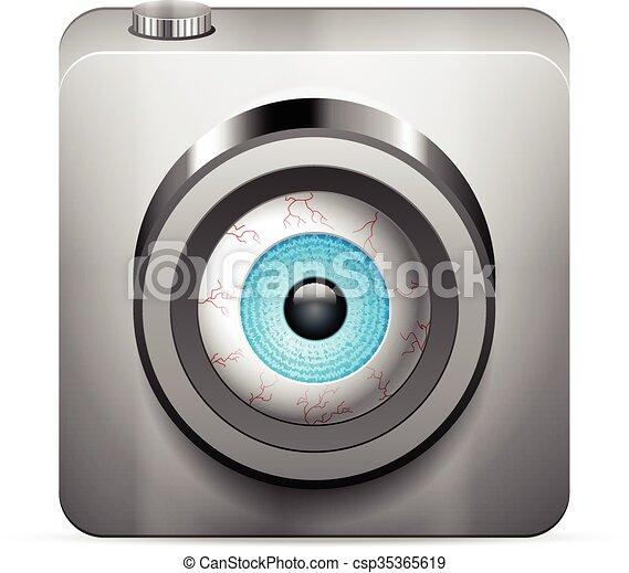 photo camera eye - csp35365619