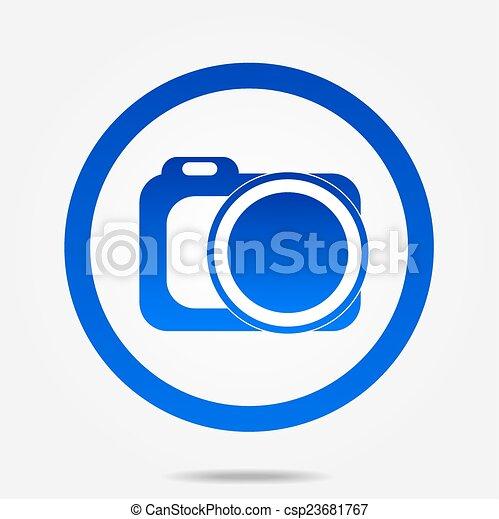 Photo camera icon - csp23681767