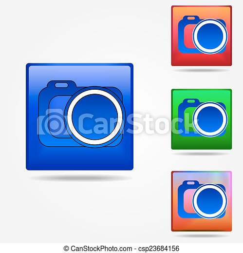 Photo camera icon - csp23684156