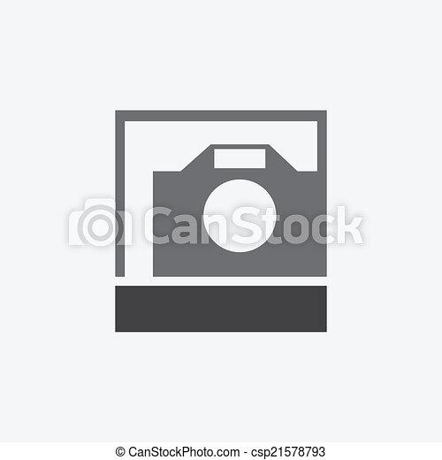photo camera icon - csp21578793