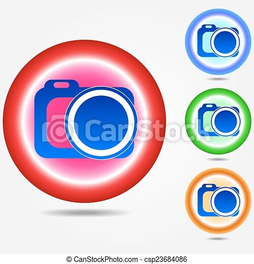 Photo camera icon - csp23684086