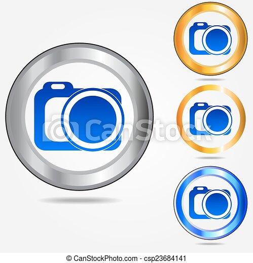Photo camera icon - csp23684141