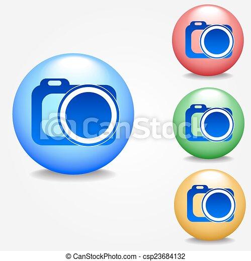 Photo camera icon - csp23684132
