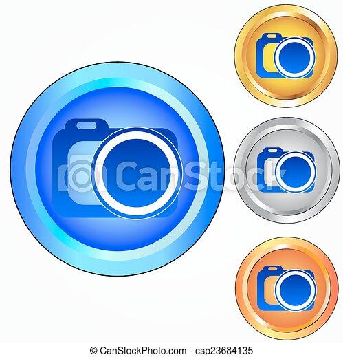 Photo camera icon - csp23684135