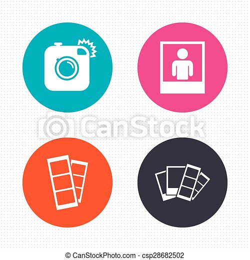 photo camera icon flash light and selfie frame circle vector rh canstockphoto com light vector ai light vector background