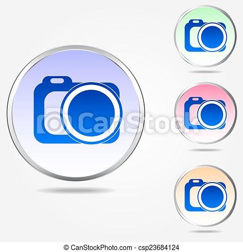 Photo camera icon - csp23684124