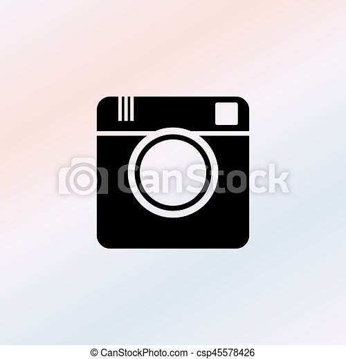 Photo camera icon - csp45578426