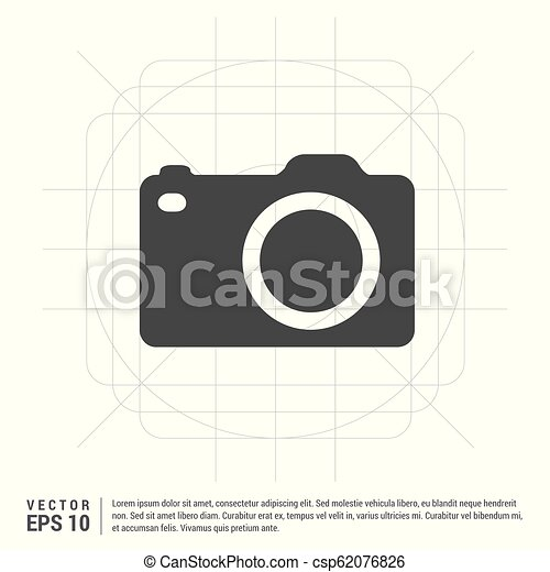 Photo camera icon - csp62076826