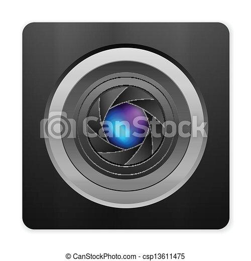 photo camera icon - csp13611475
