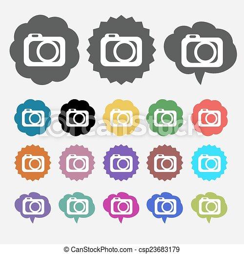 Photo camera icon - csp23683179