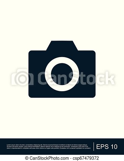 Photo camera icon - csp67479372