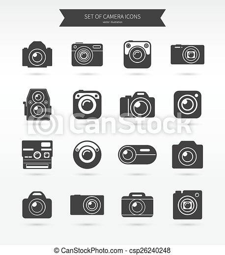 Photo camera icon set - csp26240248