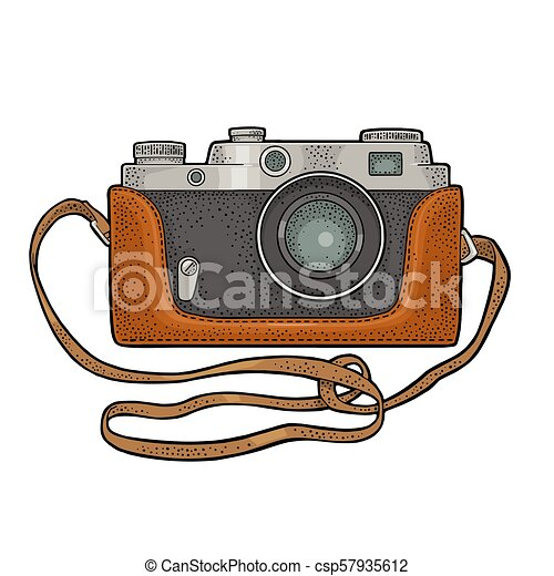 Photo Camera Icon Set Vector Illustration Retro Photo Camera Vintage Vector Color Engraving Illustration For Poster Web
