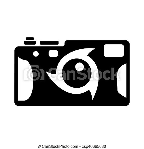 Photo Camera Icon Simple Style