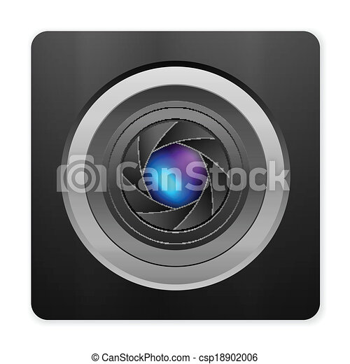 photo camera icon - csp18902006
