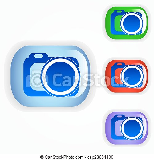 Photo camera icon - csp23684100